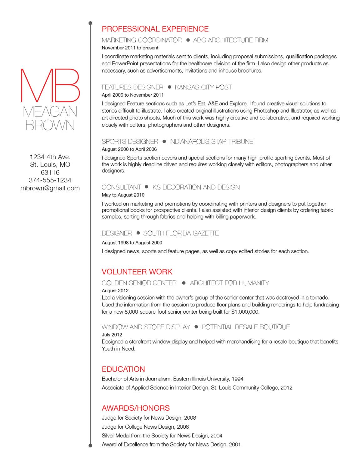 Custom resume and cover letter template - Big initials. $45.00, via ...