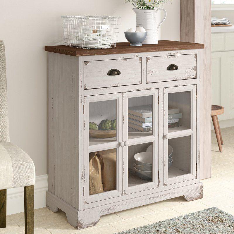 Best Hardrick 3 Door Accent Cabinet Living Room Glass Cabinet 400 x 300