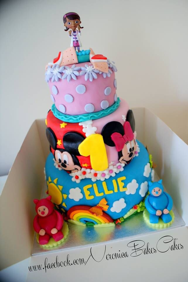 Minnie And Mickey Billy Bam Bam Doc Mcstuffins Cake