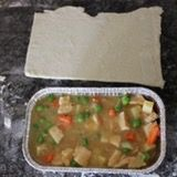 Fill foil containers with chicken and vegetable mixture, all the way to the top.