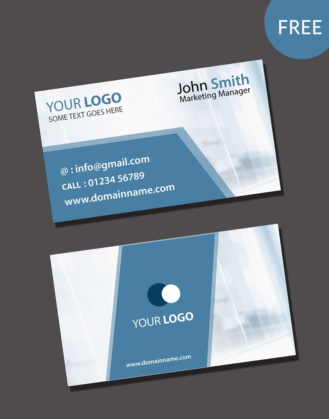 020 Free Blank Business Card Templates