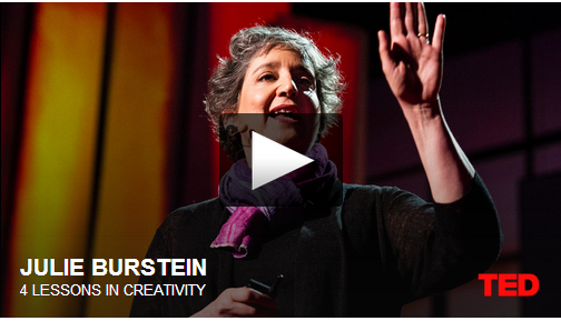 5 OUTSTANDING TED TALKS ABOUT CREATIVITY – 1- 4 Lessons in Creativity with Julie Burstein 2- You Elusive Creative Genius with Elizabeth Gilbert 3- How to Build your Creative Genius with David Kelley 4- Where Good Ideas come from with Steven Johnson 5- Fashion andCreativity with Isaac Mizrahi