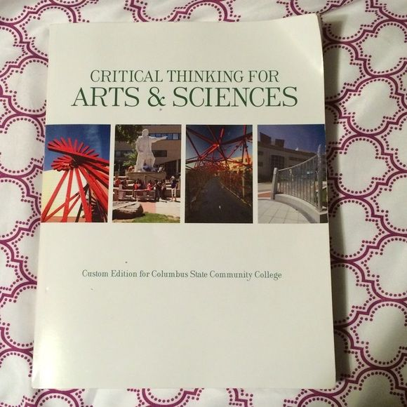 College text book Critical thinking. Used once. Accessories