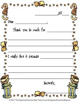 Free student thank you note k and 1st grade pinterest parent a thank you note is perfect for students to say thanks for a guest speaker a parent volunteer or for receiving a gift from spiritdancerdesigns Image collections