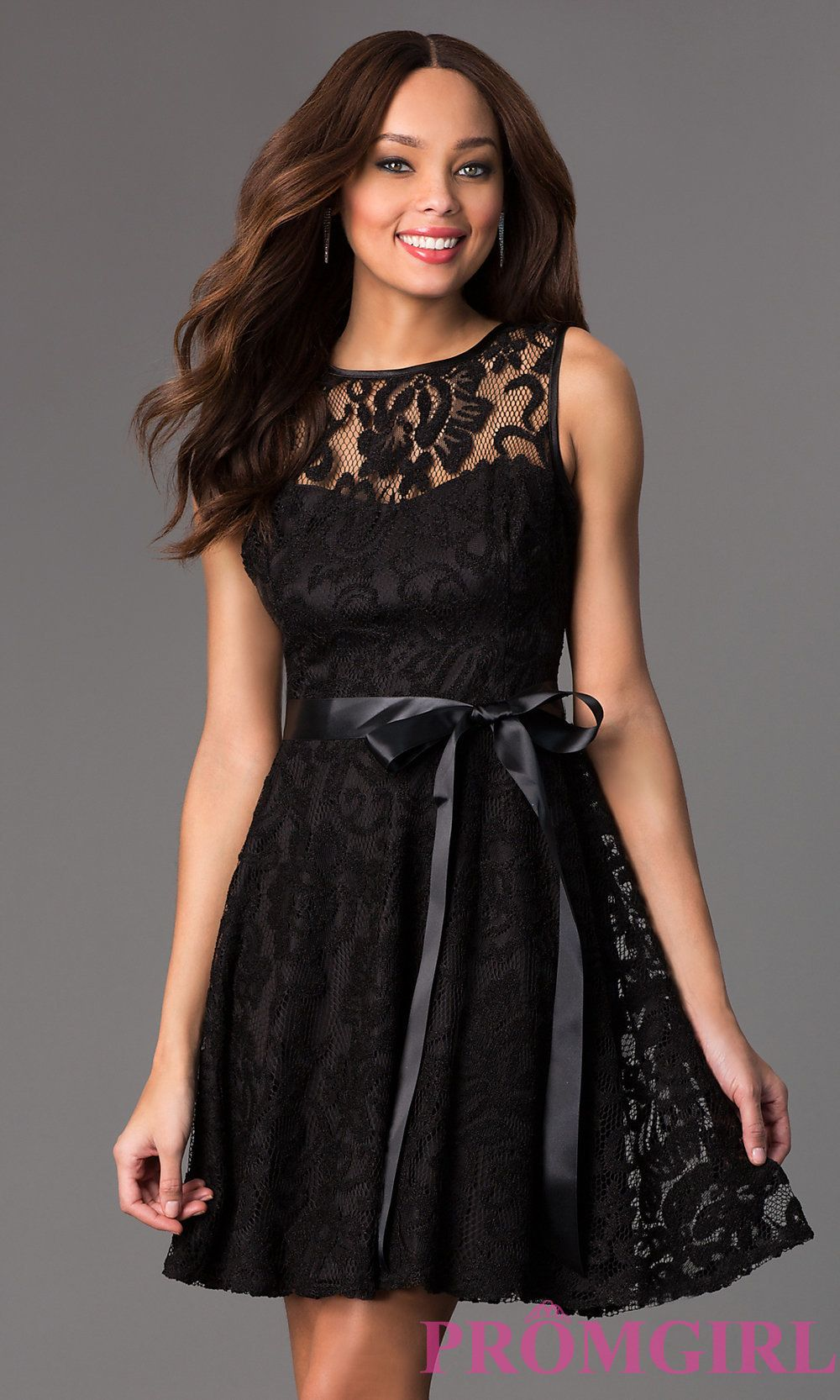 White and black lace dress short