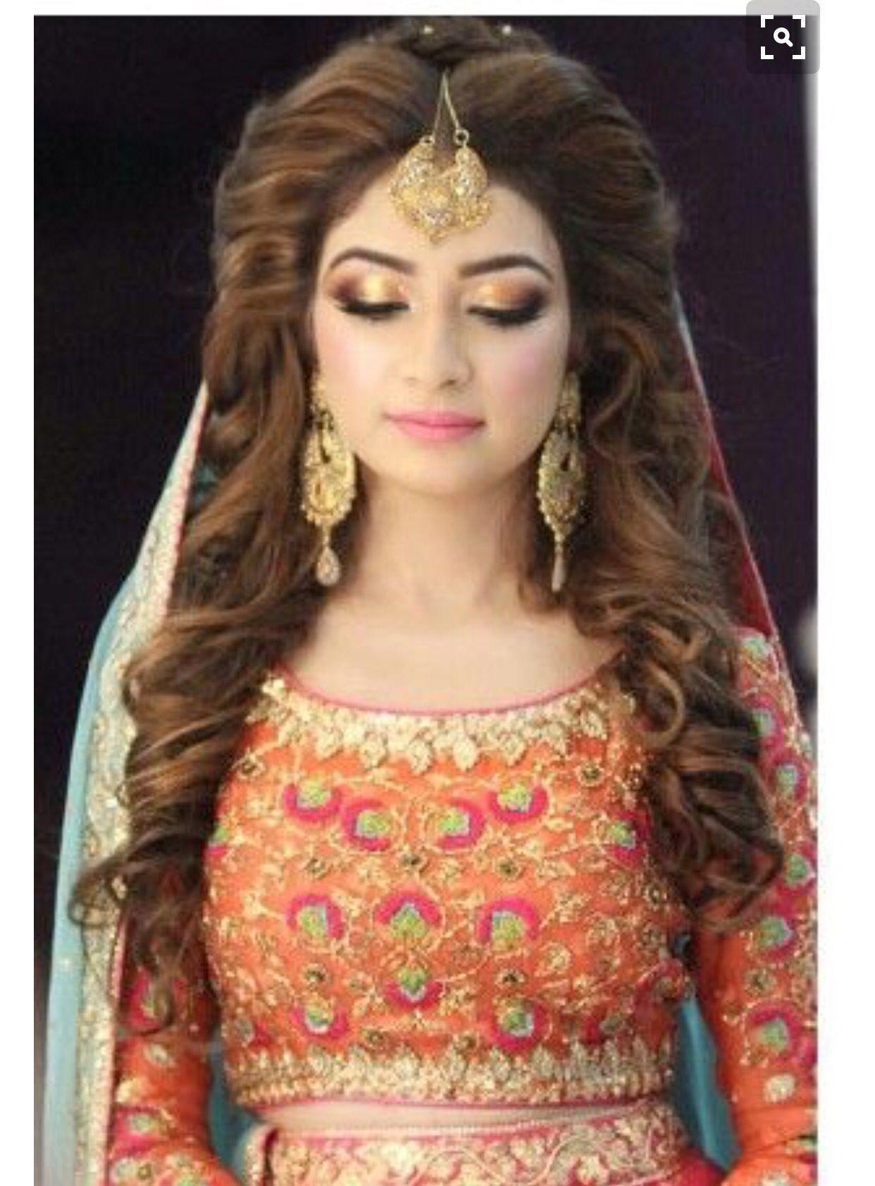 Mehndi Idea Pakistani Bridal Hairstyles Pakistani Wedding Hairstyles Indian Wedding Hairstyles