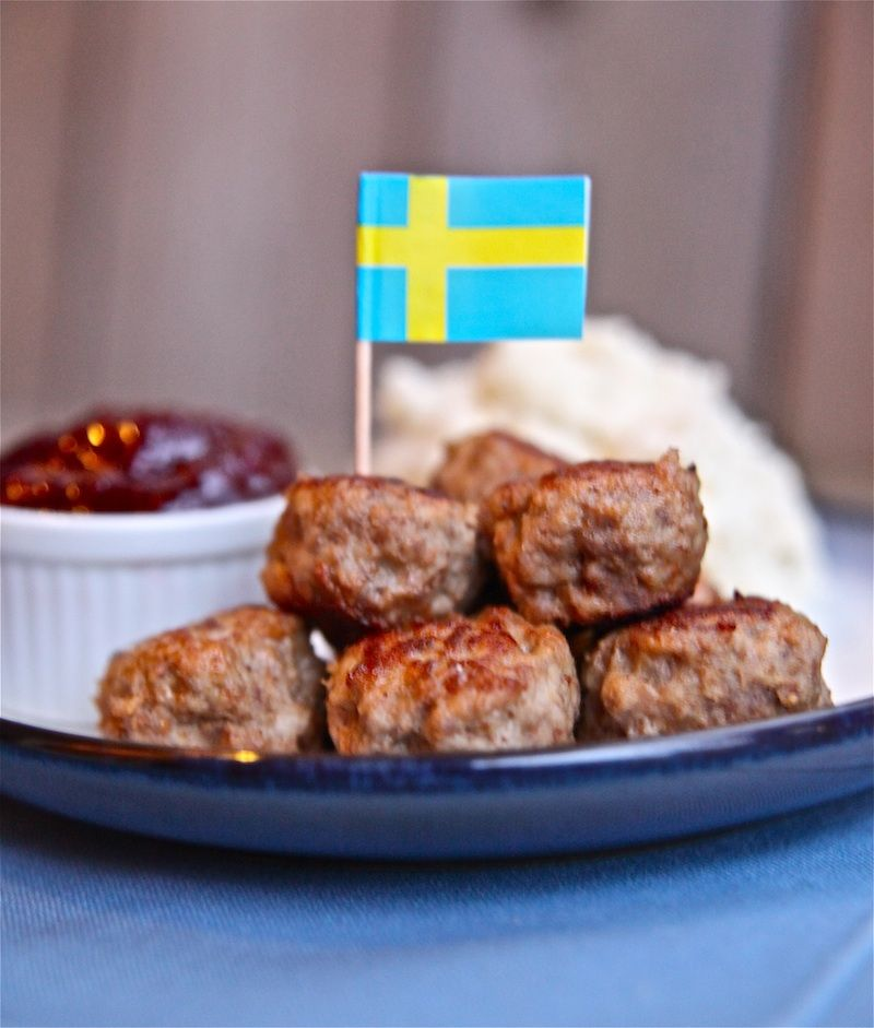 Swedish food meatballs with a tasty dip pickled for Meatball canape