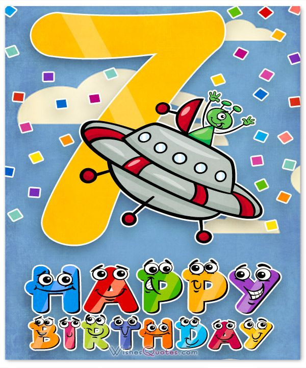 Happy 7th Birthday Wishes Numbers Kids Cards Messages Gifts