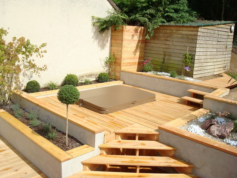 Amenagement Terrasse Avec Spa On Decoration D Interieur Moderne Terrasse  Bois Jacuzzi Idees With Amenagement Terrasse Avec Spa. Added On July 2017  On Maison ...