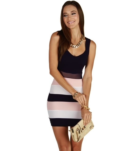10/20/15  Brand/Designer: Windsor Material: Polyester /Spandex Occasion: Party Dress Shoulder: Sleeveless Embellishments: Colorblocking Lined Mesh Stretchy