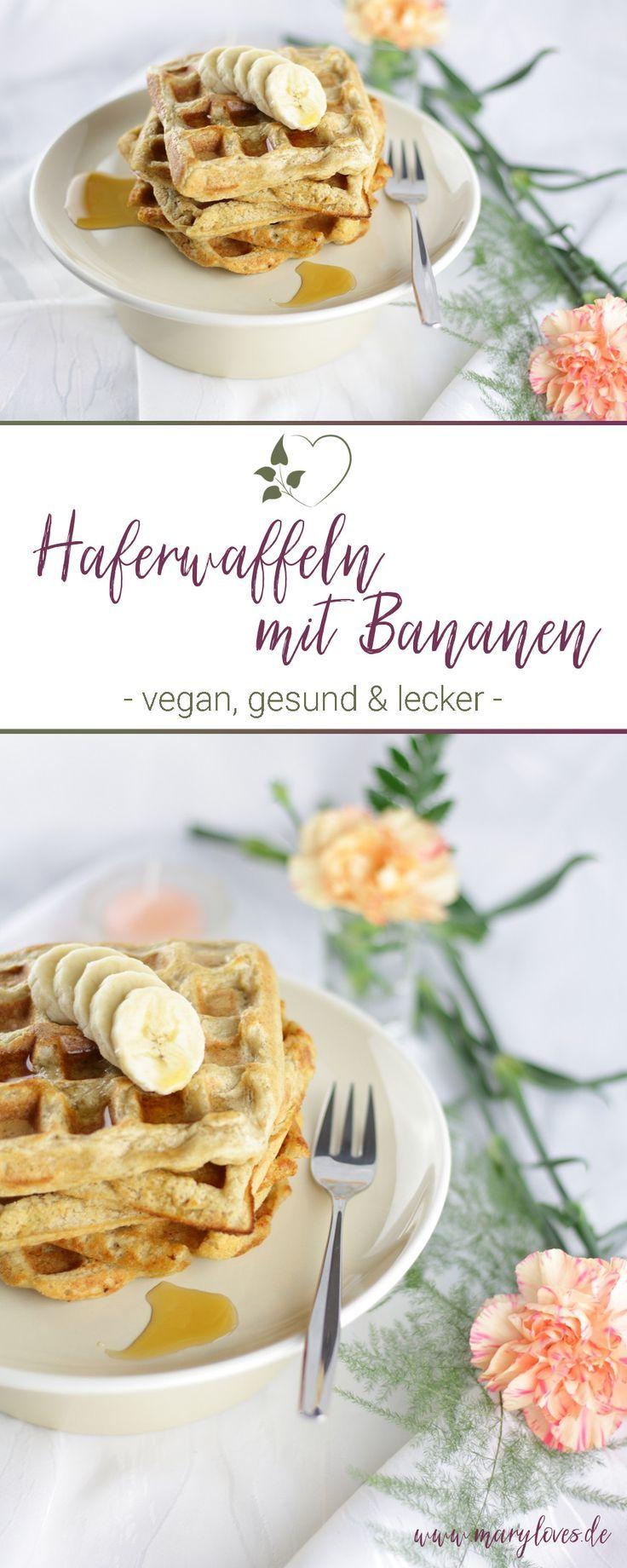 Gesundes Frühstück: Vegane Haferwaffeln mit Bananen - Mary Loves