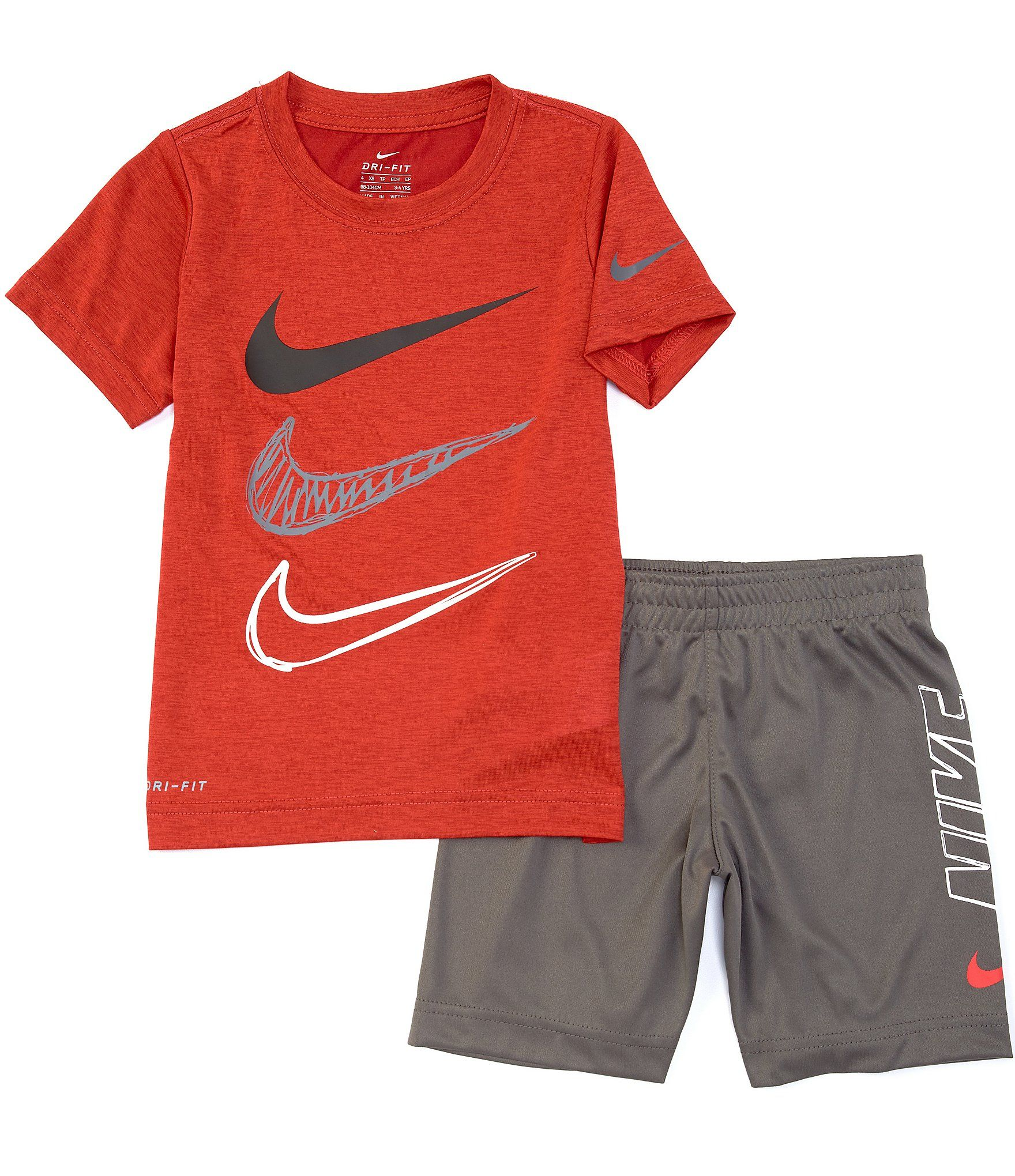 Nike Little Boys 2T-7 Short-Sleeve Dropsets Tee & Shorts Set | Dillard's in  2020 | Boys short outfits, Short sets, Toddler boy outfits