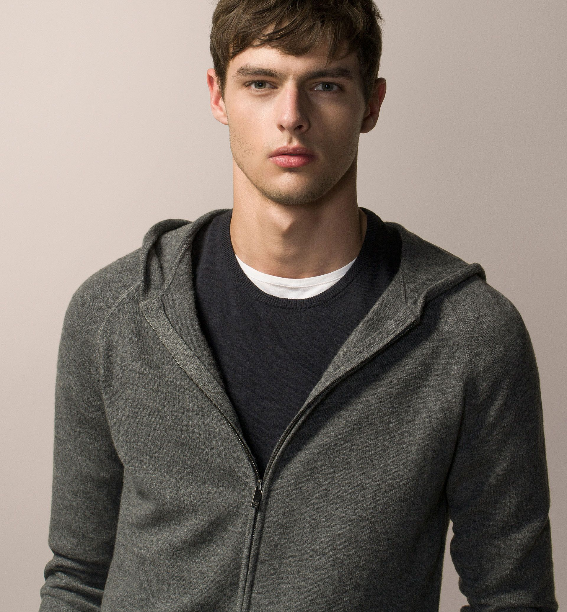 WOOL AND CASHMERE HOODED CARDIGAN | Massimo Dutti Style ...