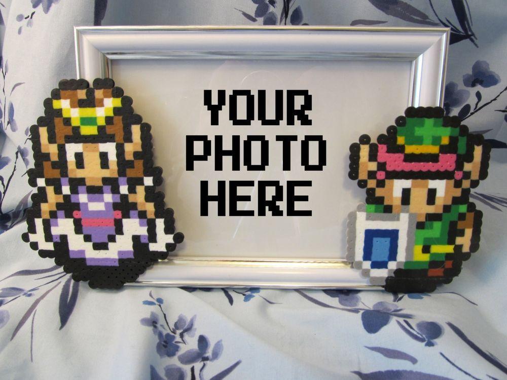 Legend Of Zelda Picture Frame Link And Zelda 16 Bit Snes