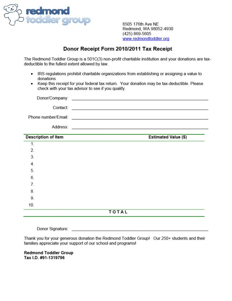 Explore Our Printable Charitable Contribution Receipt Templat Receipt Template Donation Form Charitable Donations
