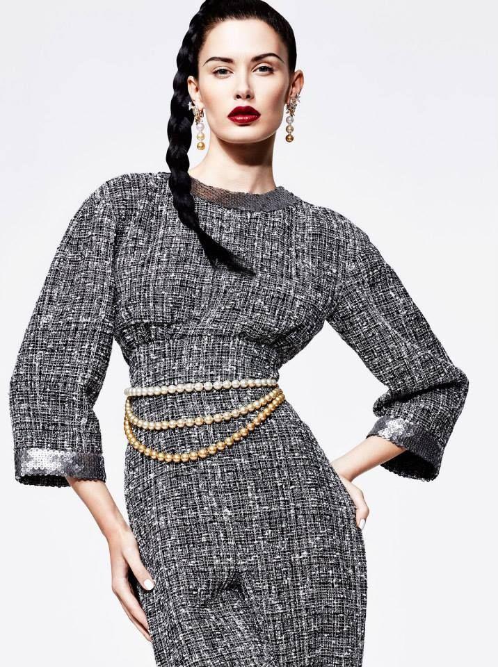 Sofia Rudeva by Greg Adamski for Elle Arabia