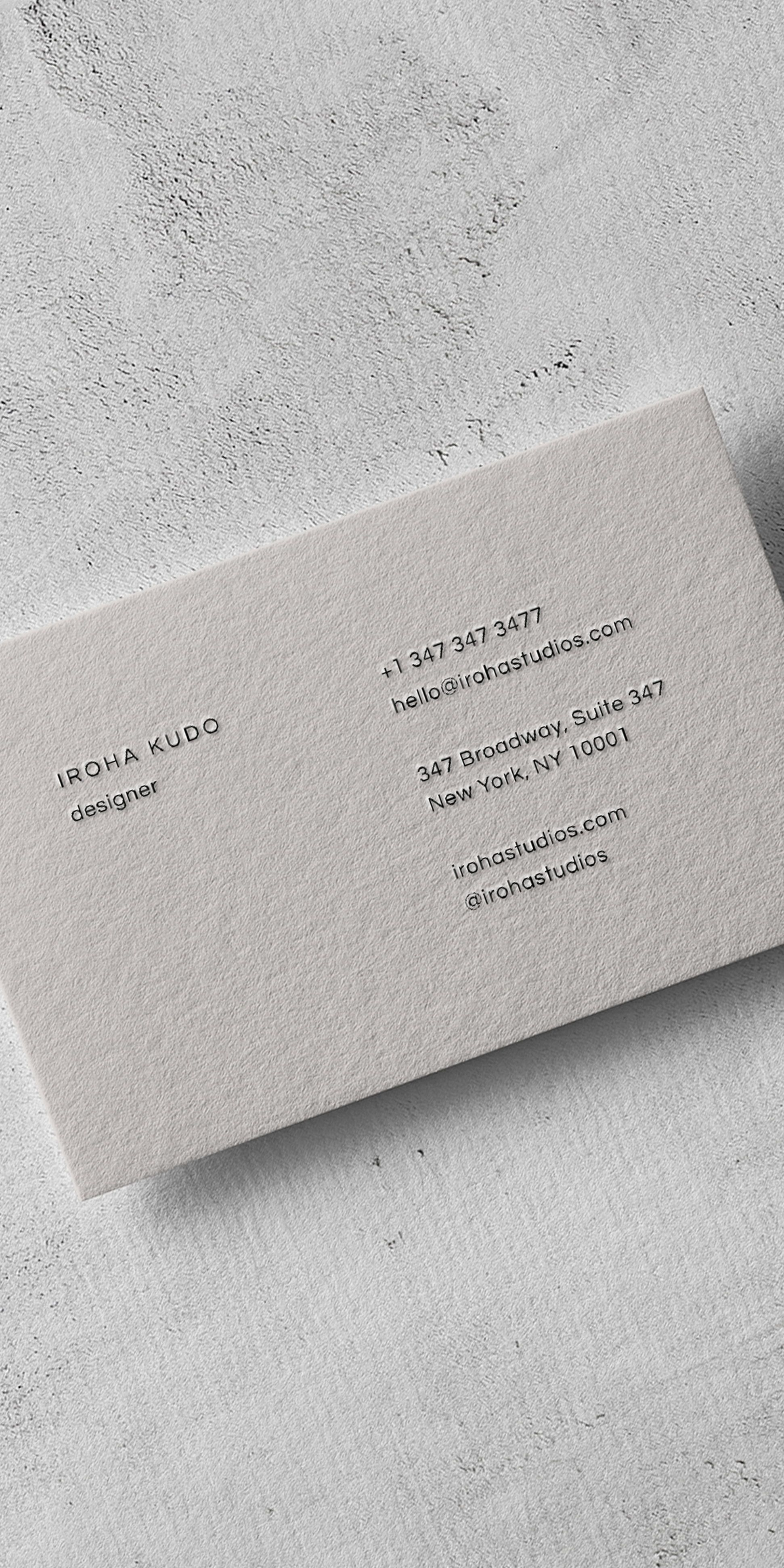 Iroha A Minimal Business Card Design With Modern Font And Color