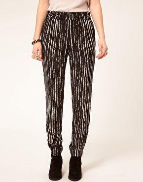 IRO Broken Stripe Printed Trousers