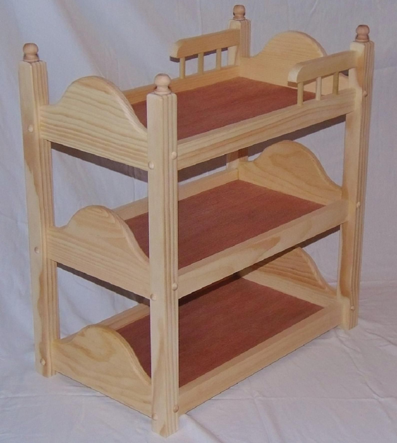 Triple Doll Bunk Bed Unfinished Fits