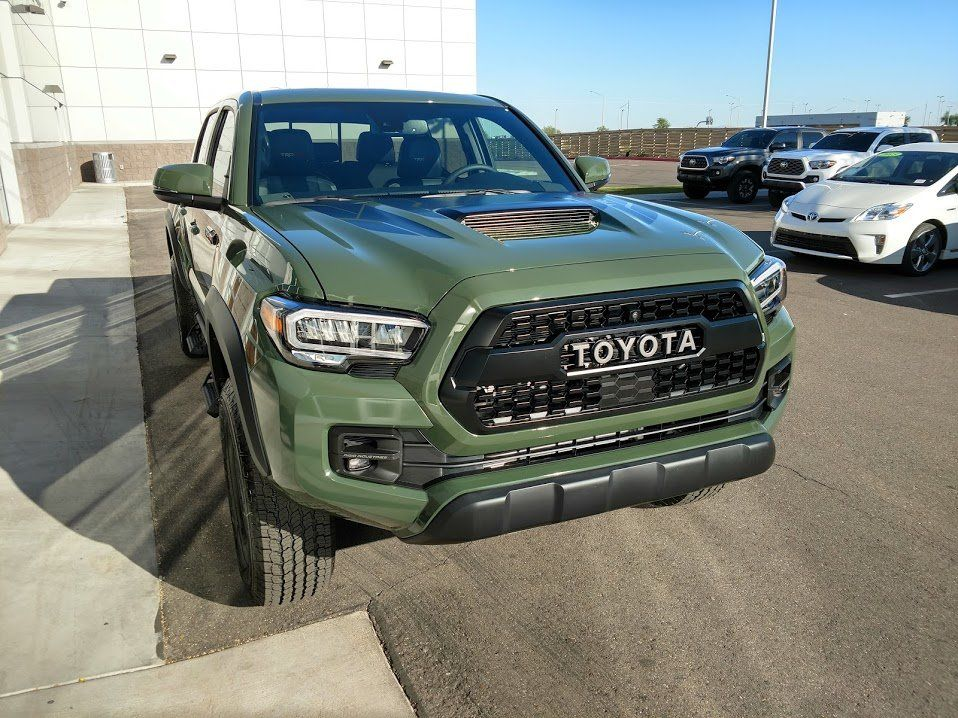 I joined the Army Green club today Toyota trd