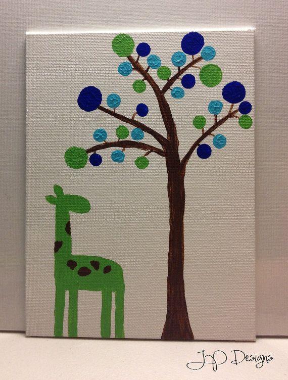 Giraffe Painting by JPDesignsMA on Etsy, $10.00