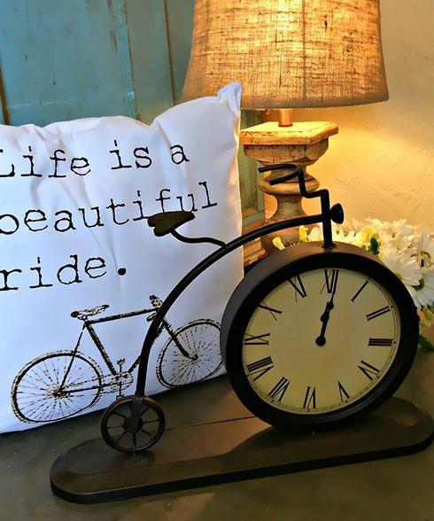 Metal Bicycle Clock - Smallwoods Home - Decor Pinterest