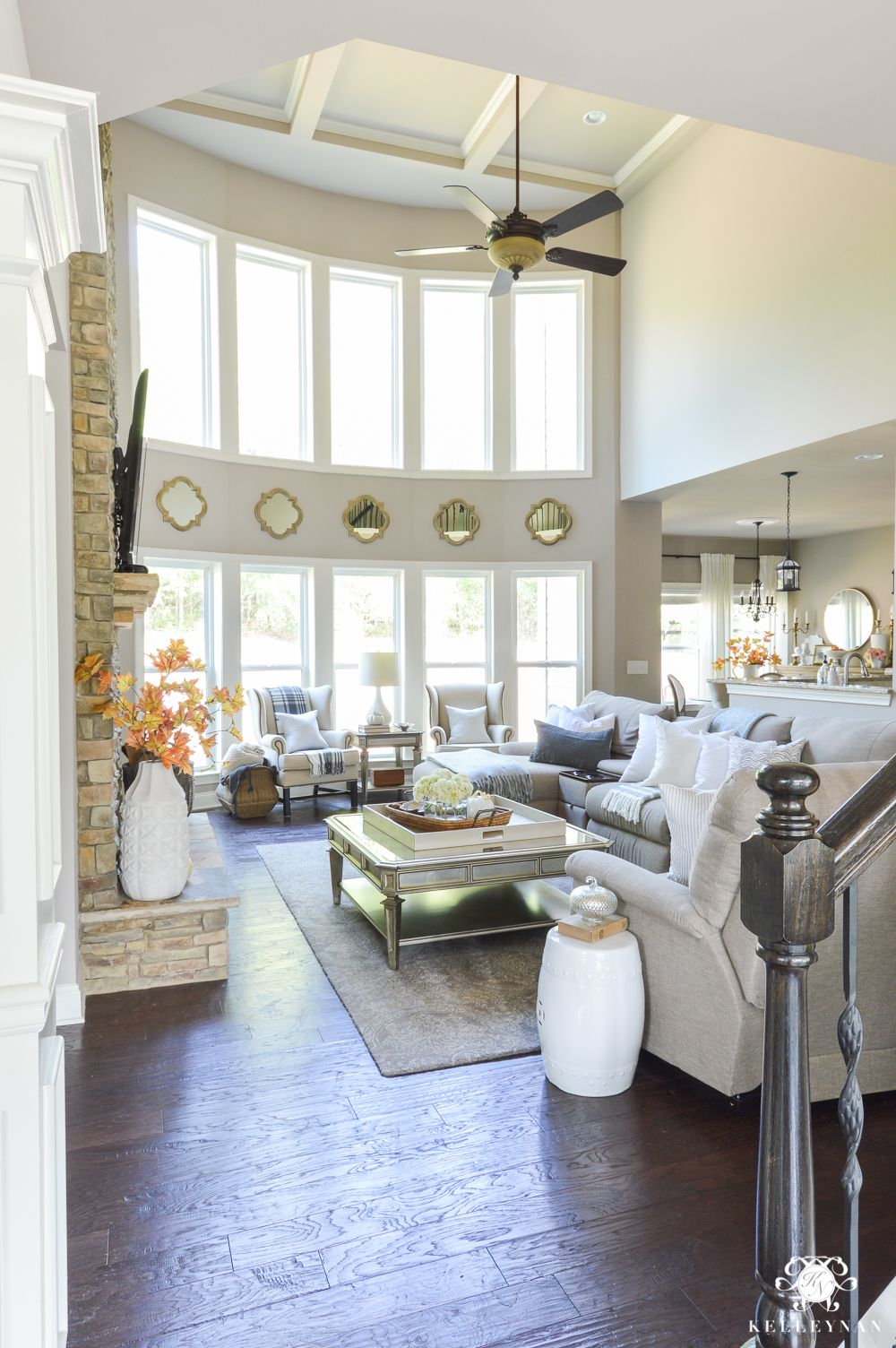 Home interior design windows  fall home tour  window room and living rooms