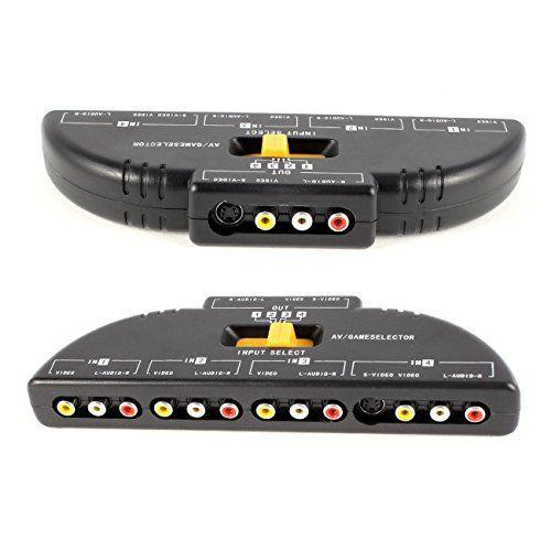 Optimal Shop High Quality 4Way Audio Video AV RCA Switch Game