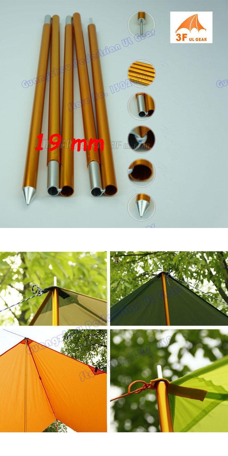 Visit To Buy 1 Pair Tent Tarp Sun Shelter Awning Canopy Poles 7075 Aluminum Ultralight Adjustable Support Poles 3f Ul Gear Adver Tent Tarp Awning Canopy Tableware