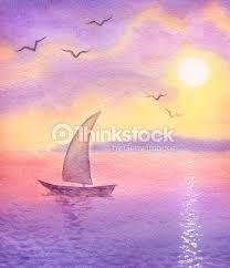 Resultado De Imagen Para Dibujos De Paisajes Pintados Con Acuarelas