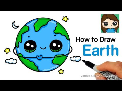 How To Draw Earth Easy And Cute Youtube In 2020 Earth Drawings Kawaii Drawings Cute Kawaii Drawings