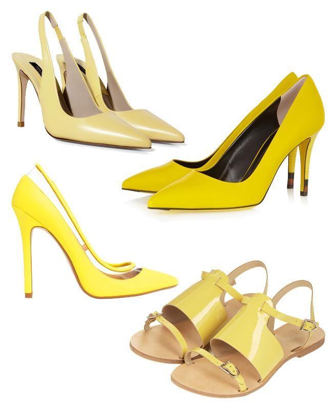 Los zapatos amarillos quieren ponerse de moda. Diane Kruger se va de ... 35c5482d7176b