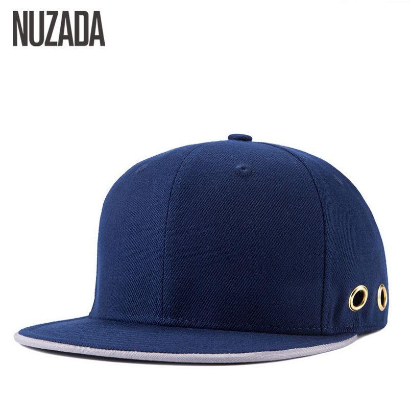Brand NUZADA Solid Color Baseball Caps For Men Women Couple Ventilation Holes High Quality Hip Hop Hats Cap Snapback Bone  #Affiliate