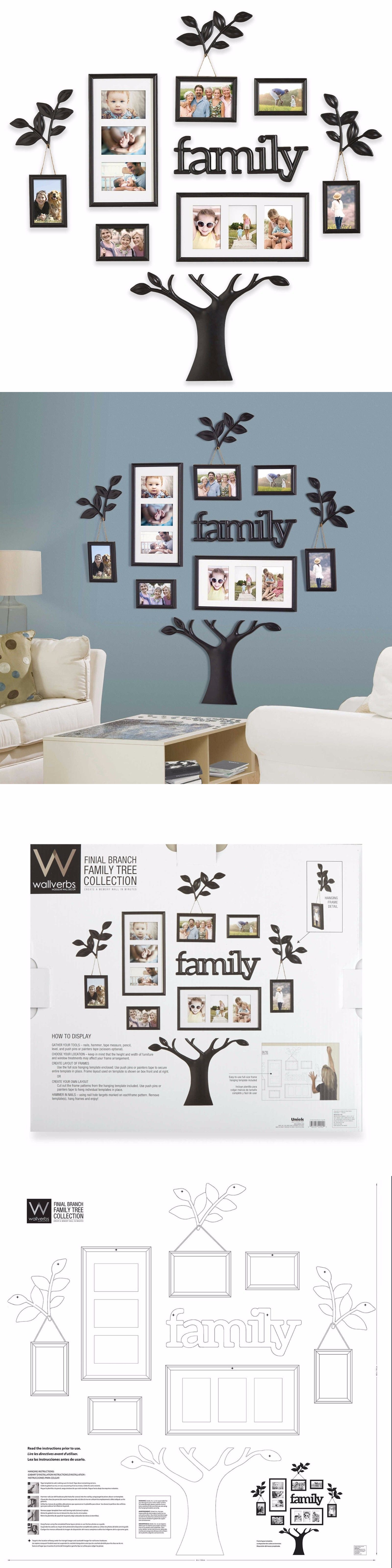 Frames piece picture photo frame set family tree collage