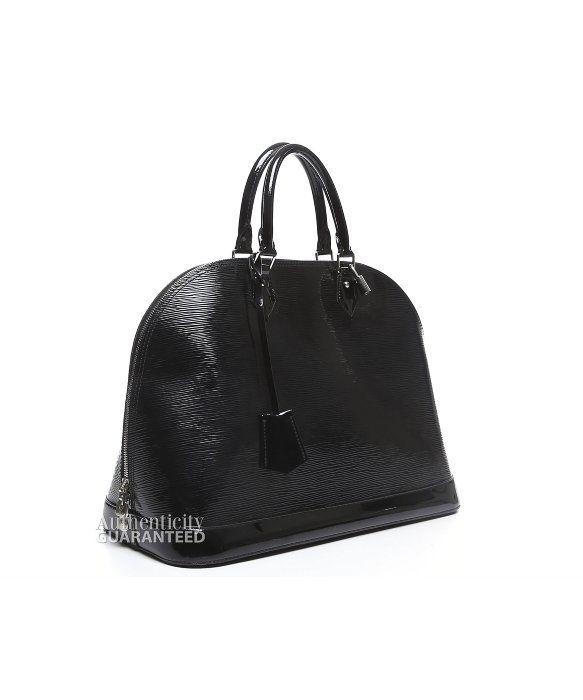 LOUIS VUITTON Pre-Owned Louis Vuitton Black Epi Electric Alma Gm Bag. #louisvuitton #bags #shoulder bags #hand bags #leather #lining