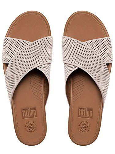 7b3501c3f2d0 FitFlop Women s Aix Perf Nubuck Slide Sandals