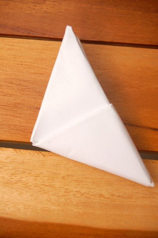 fold a note into a secret triangle for the little ones in my life