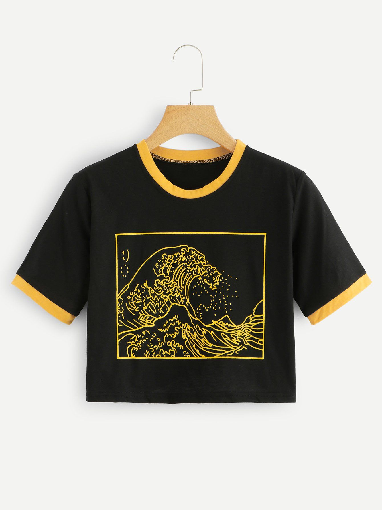 a0b119158 ... Buy Women's T-shirts at Cheap Prices. Graphic Print Ringer TeeFor  Women-romwe