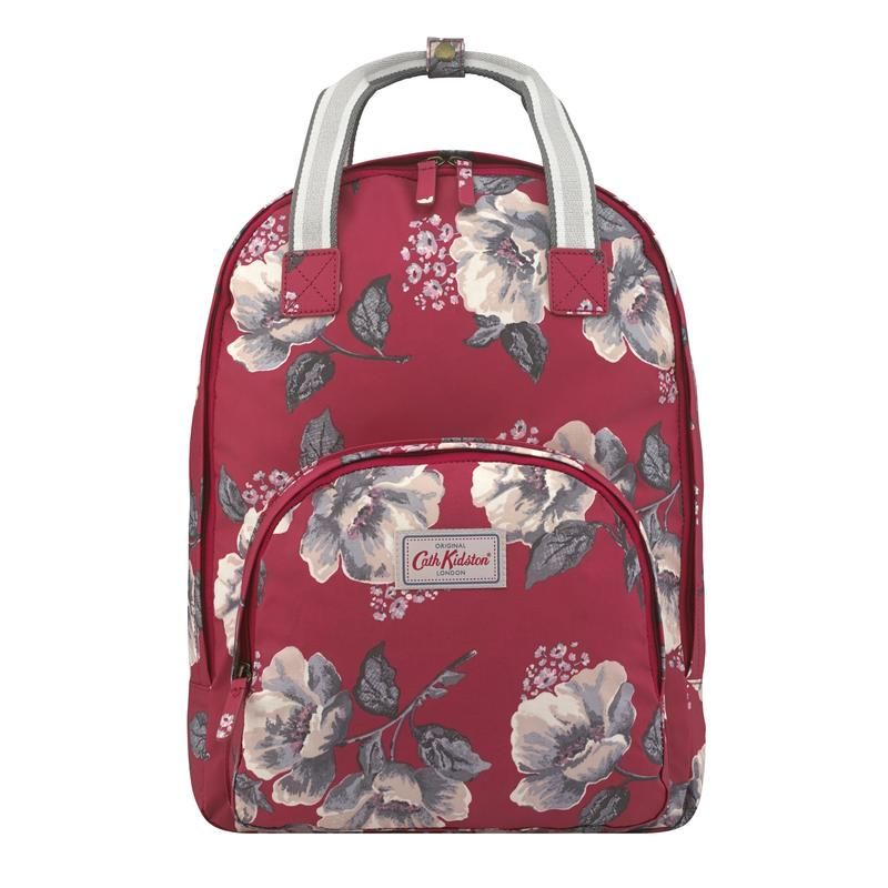 f363d2dad6eb0 Cath Kidston Wild Poppies berry multi pocket backpack | Bags ...