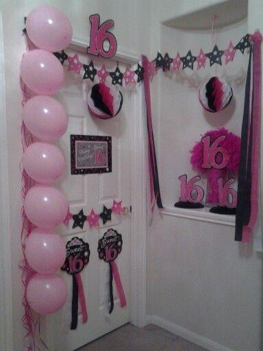Decorate Bedroom Door For Birthday Surprise Birthday Door Decorations Birthday Door 16th Birthday Decorations