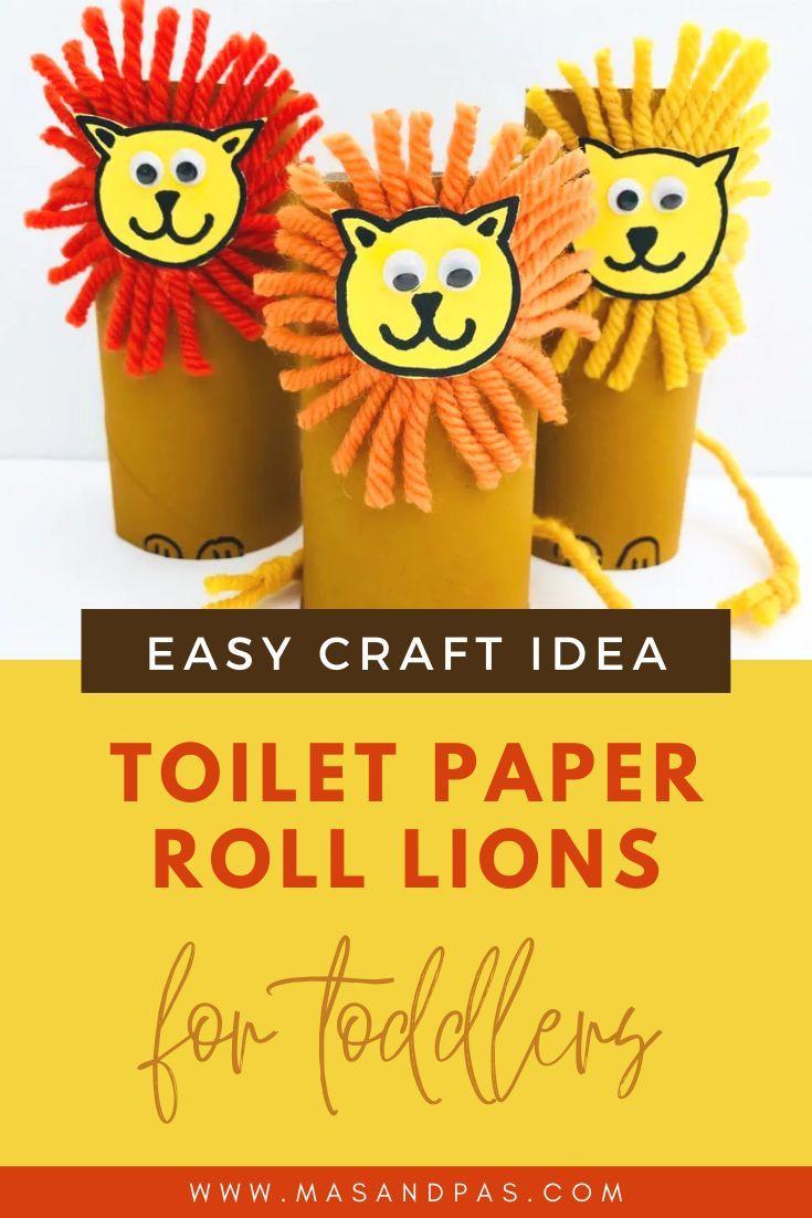 Lion Safari Easy Craft Idea for Toddlers | Mas & Pas