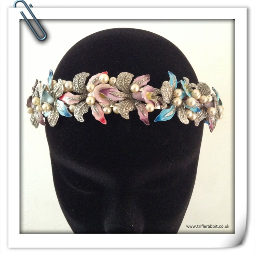 Everlasting flower crown vintage fascinators and headbands everlasting flower crown vintage izmirmasajfo