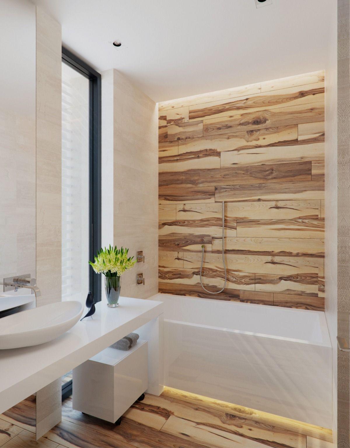 Https Deavita Com Wp Content Uploads 2019 10 Moderne Wandverkleidung Im Bad Mit Holzoptik Und Fugenlose Moderne Wandverkleidung Wandverkleidung Badgestaltung