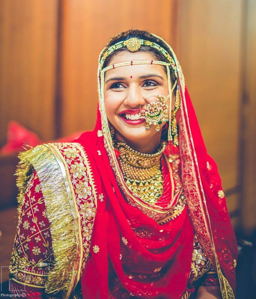 Nice pic of day Bridal nose ring, Indian bride, Bride wear
