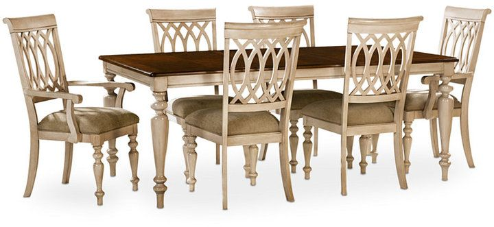 Dovewood Dining Room Furniture 7 Piece Set Table 4 Side Chairs Custom Buy Dining Room Table And Chairs Design Ideas