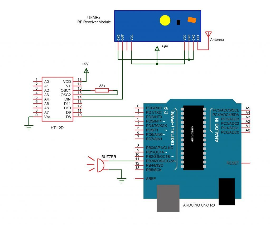 Wireless Doorbell Arduino Circuit Wireless Doorbell Arduino