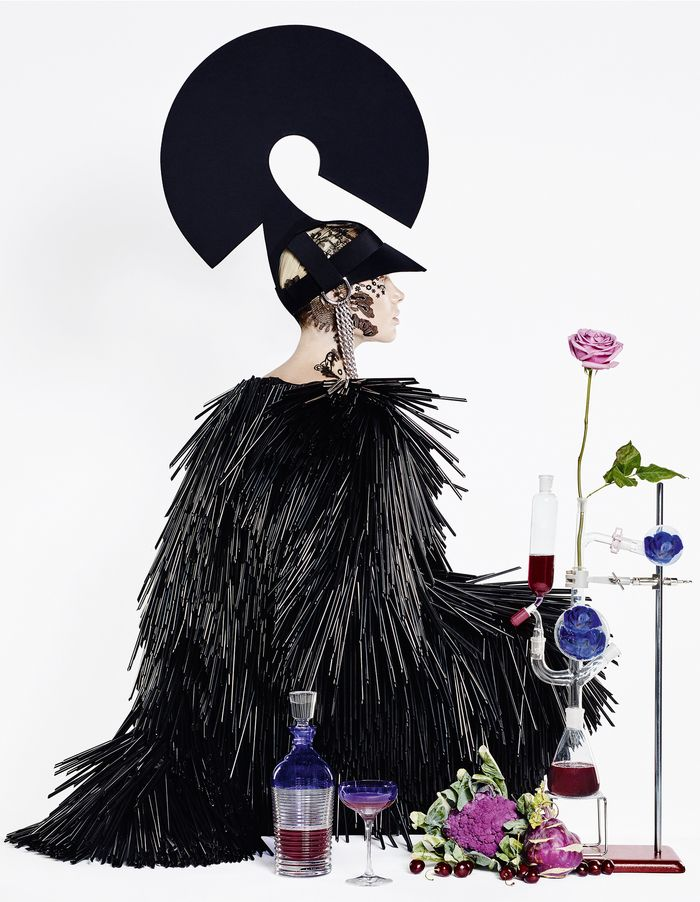 Come cocktail hour, cast a spell with potent potions, jewel-like glassware – and a bewitching wardrobe. Styling and set design by Damian Foxe. Photography by Luis Monteiro