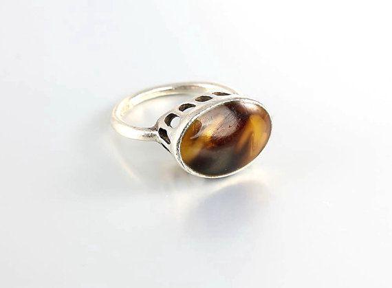 230e9e0acb Tortoise shell Sterling silver Ring