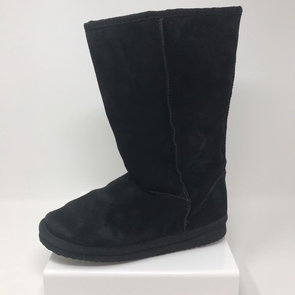 4f9c1ab079b Arizona Jean Co Faux Suede Black Boots Women's Size 7 Medium Mid ...
