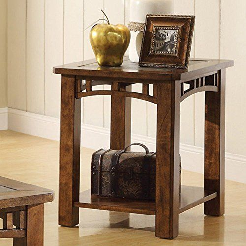 End table with natural slate insert top for more information end table with natural slate insert top for more information visit image watchthetrailerfo